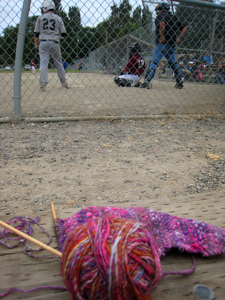 Baseball knitting