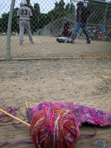 Baseball knitting